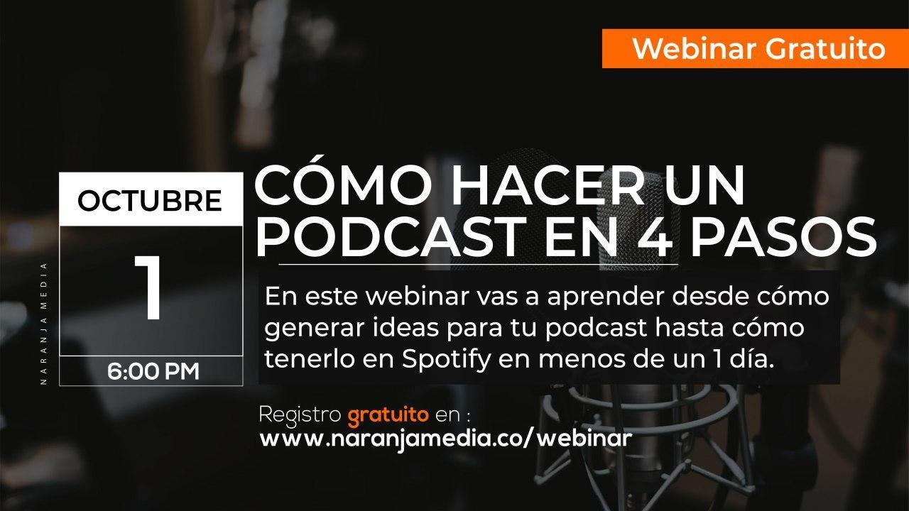 promo webinar gratuito de cómo hacer un podcast